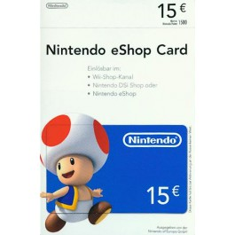 nintendo eshop card 15 euro als download online kaufen gamliebe. Black Bedroom Furniture Sets. Home Design Ideas